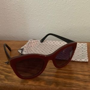 Anthropologie Accessories - Anthropologie Red and Black Sunlasses